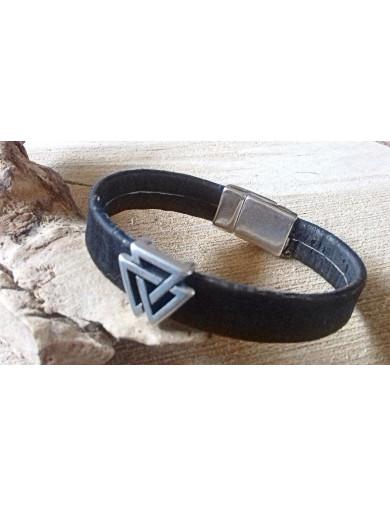 Bracelet liège noir -...