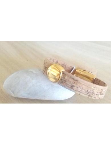 Bracelet liège naturel -...