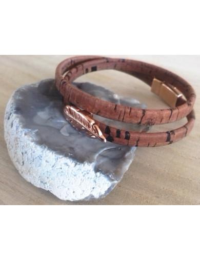 Bracelet double tour marron...