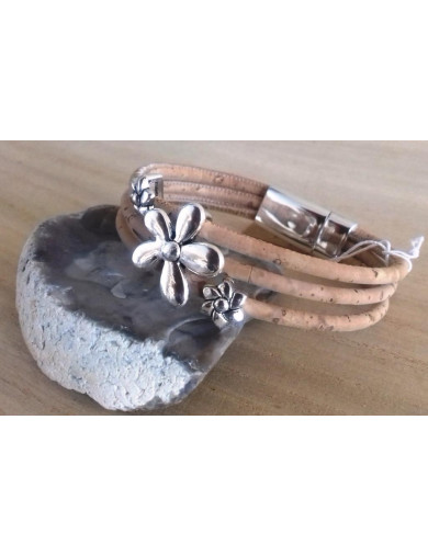 Bracelet 3 cordons liège...