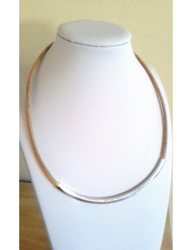 Collier liège naturel tube...