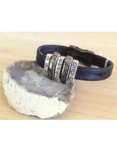Bracelet liège noir - 2...
