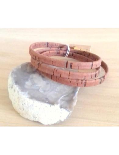 Bracelet triple tour marron