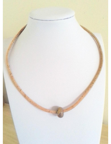 Collier liège naturel &...