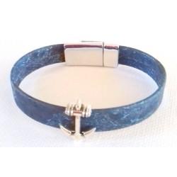 Bracelet lanière ancre