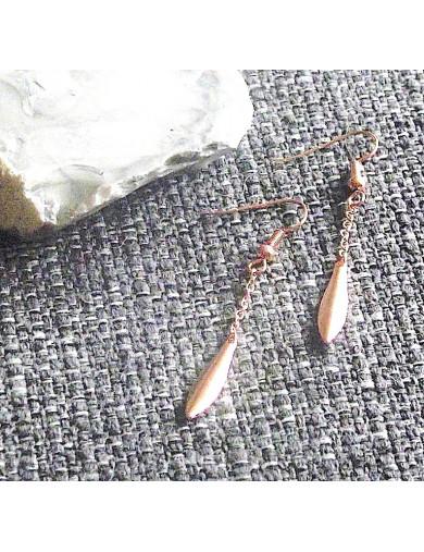 Boucles d'oreilles grain plié