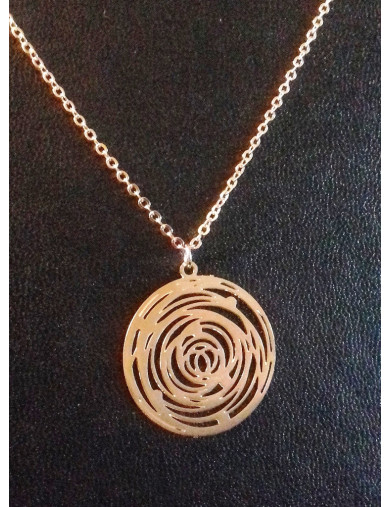 Collier or rose - rond spirale