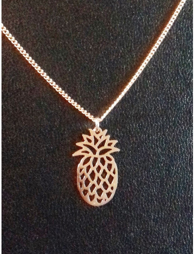 Collier or rose - ananas